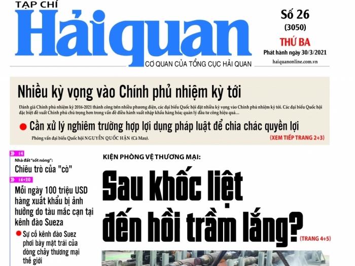Những tin, bài hấp dẫn trên Tạp chí Hải quan số 26 phát hành ngày 30/3/2021