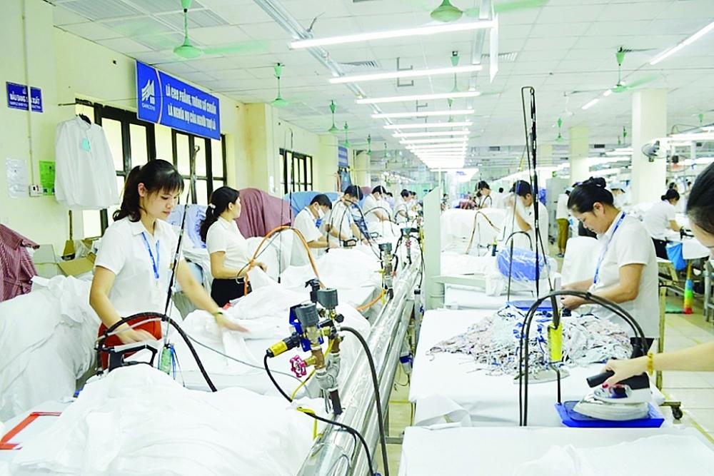 Dệt may là ngành hàng đã và đang tận dụng tốt cơ hội từ UKVFTA.  Ảnh: Nguyễn Thanh