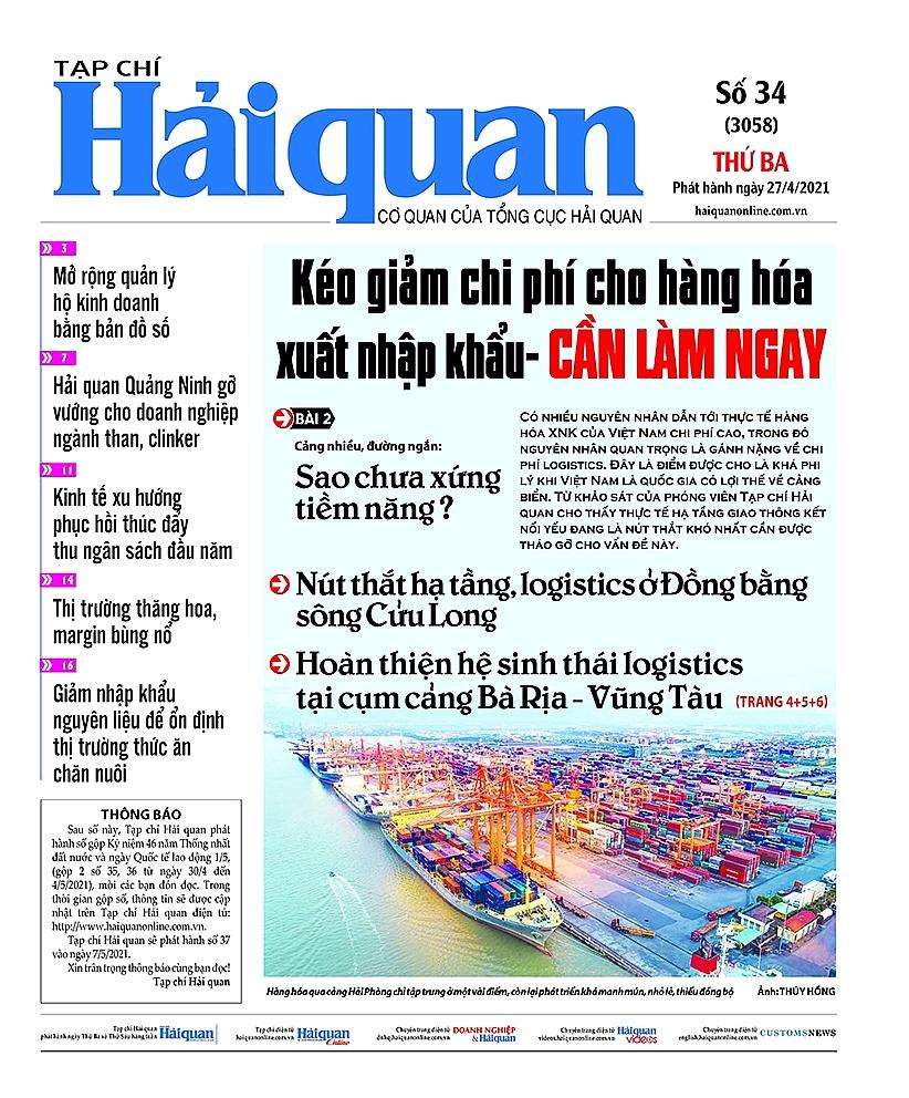 Những tin, bài hấp dẫn trên Tạp chí Hải quan số 34 phát hành ngày 27/4/2021