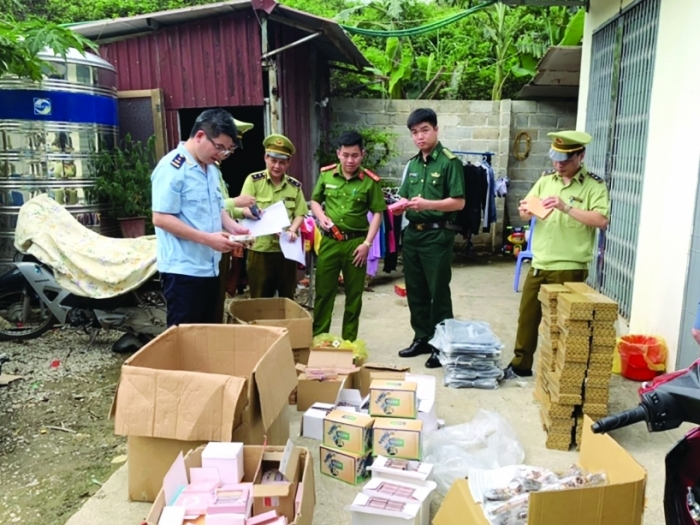 Hải quan Tân Thanh ngăn chặn hàng tạp hóa nhập lậu