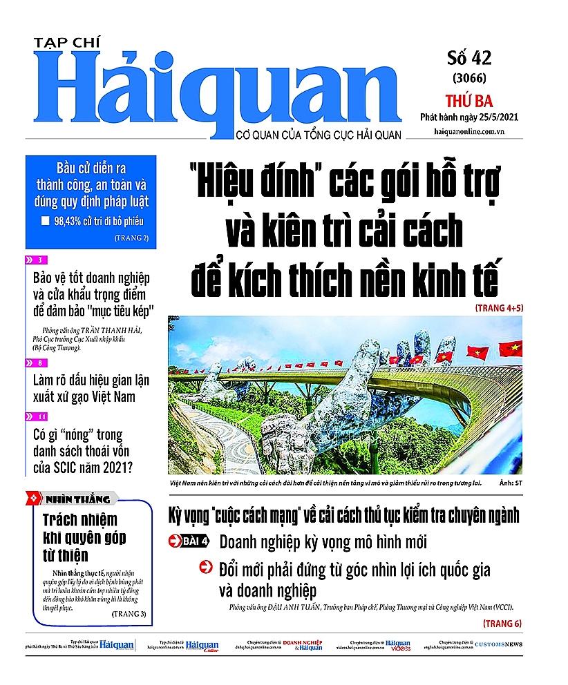 Những tin, bài hấp dẫn trên Tạp chí Hải quan số 42 phát hành ngày 25/5/2021