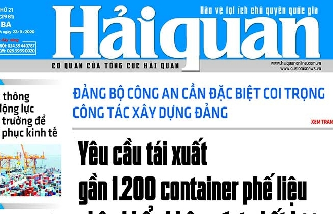 Những tin, bài hấp dẫn trên Báo Hải quan số 114 phát hành ngày 22/9/2020
