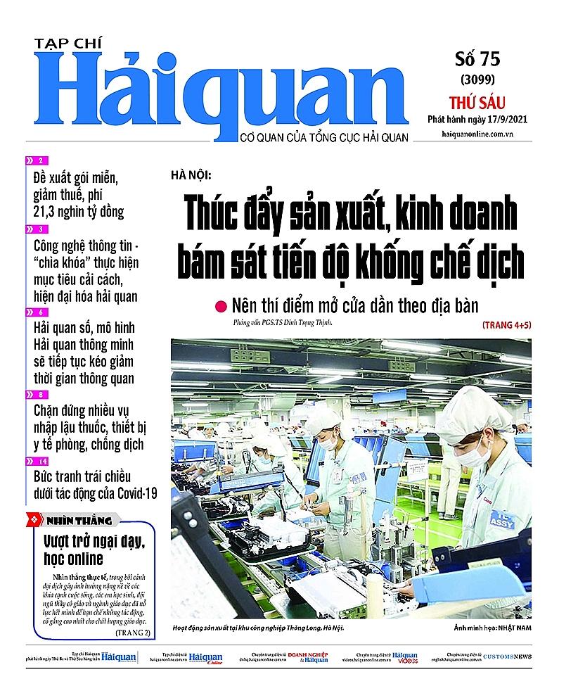 Những tin, bài hấp dẫn trên Tạp chí Hải quan số 75 phát hành ngày 17/9/2021