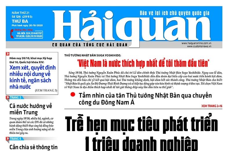 Những tin, bài hấp dẫn trên Báo Hải quan số 126 phát hành ngày 20/10/2020