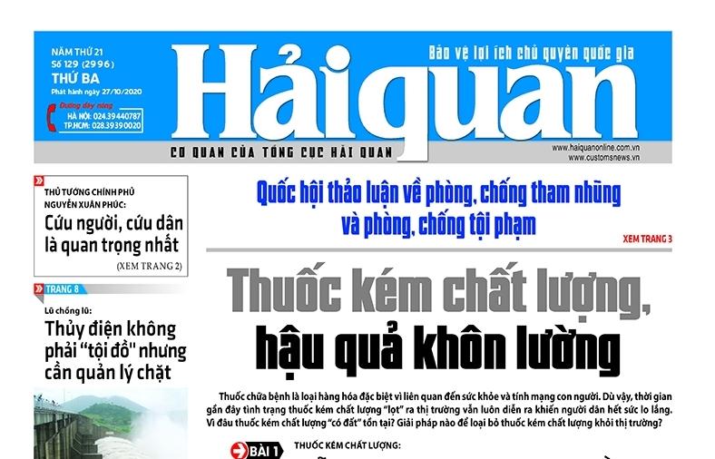Những tin, bài hấp dẫn trên Báo Hải quan số 129 phát hành ngày 27/10/2020