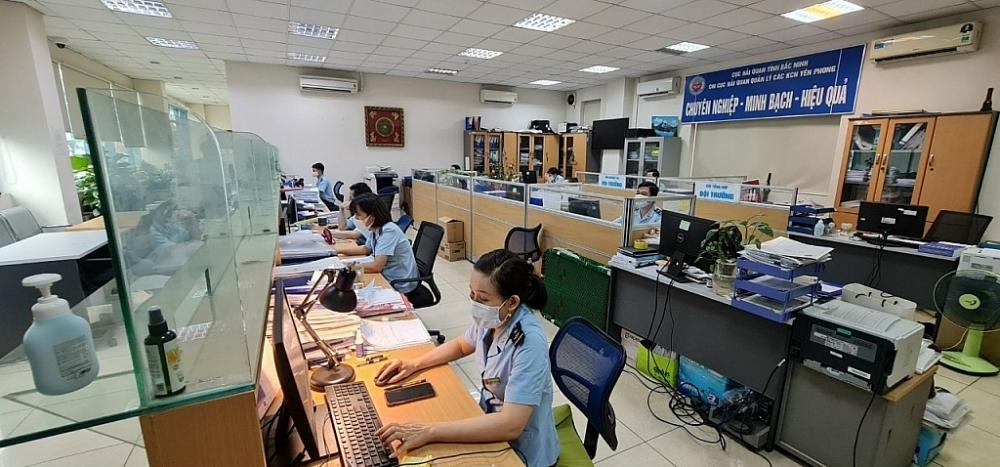 Hoạt động nghiệp vụ tại Chi cục Hải quan quản lý các khu công nghiệp Yên Phong (Cục Hải quan Bắc Ninh). Ảnh do Chi cục cung cấp