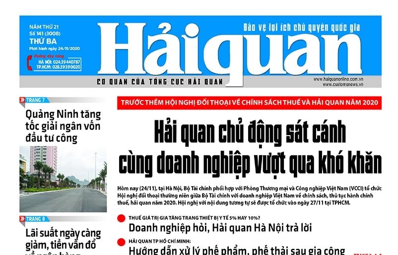 Những tin, bài hấp dẫn trên Báo Hải quan số 141 phát hành ngày 24/11/2020