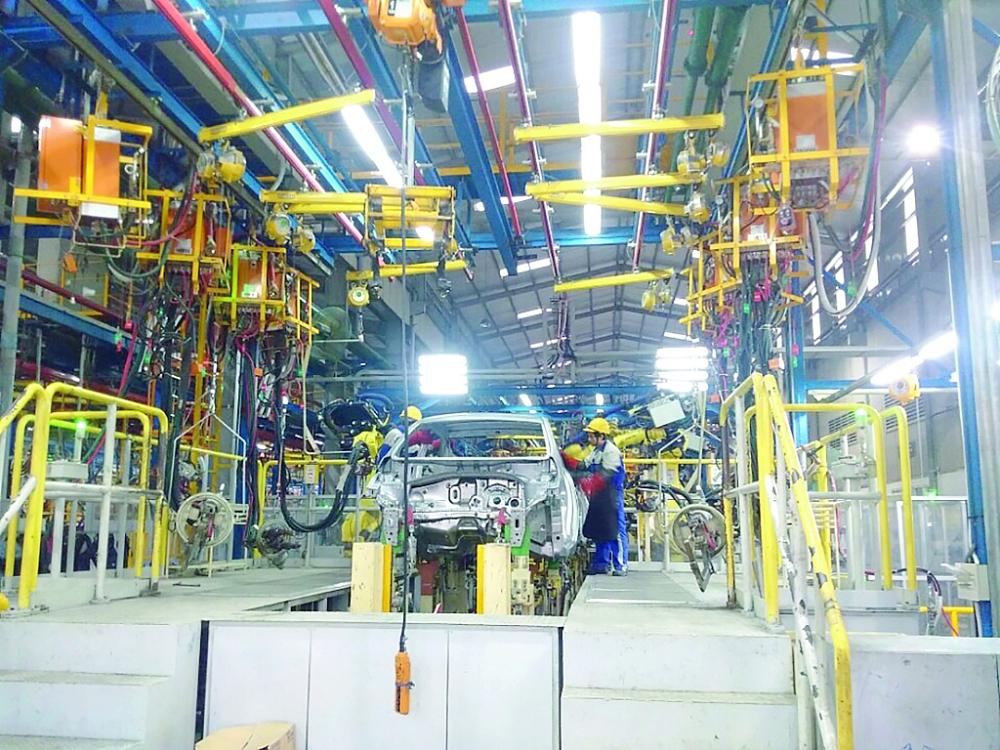 Hoạt động sản xuất tại Công ty Cổ phần Sản xuất ô tô Huyndai Thành Công Việt Nam Ảnh: Hoàng Vinh