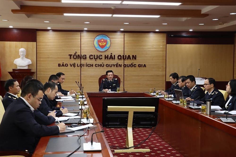 Ngày 10/12/2020, Cục Kiểm tra sau thông quan tổ chức Hội nghị trực tuyến với các cục hải quan địa phương để kiểm tra tiến độ việc vận hành thử nghiệm Hệ thống STQ02. Ảnh: T.Bình
