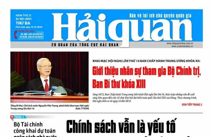 Những tin, bài hấp dẫn trên Báo Hải quan số 150 phát hành ngày 15/12/2020