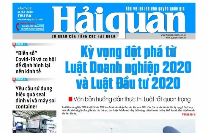 Những tin, bài hấp dẫn trên Báo Hải quan số 153 phát hành ngày 22/12/2020