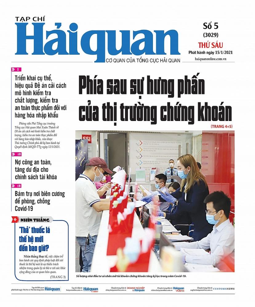 Những tin, bài hấp dẫn trên Tạp chí Hải quan số 5 phát hành ngày 15/1/2021