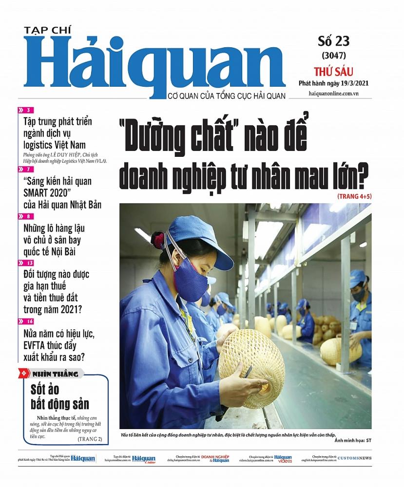 Những tin, bài hấp dẫn trên Tạp chí Hải quan số 23 phát hành ngày 19/3/2021