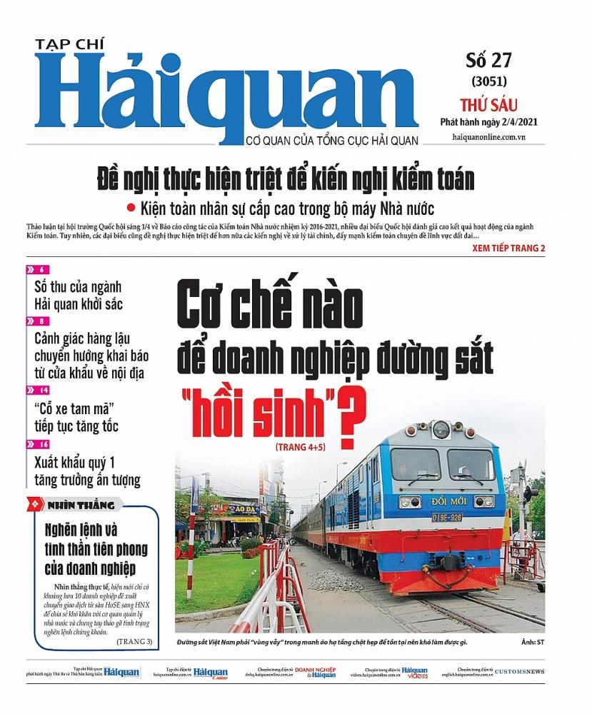 Những tin, bài hấp dẫn trên Tạp chí Hải quan số 27 phát hành ngày 2/4/2021