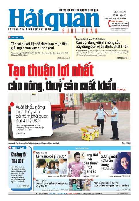 Những tin, bài hấp dẫn trên Báo Hải quan số 77 phát hành ngày 28/6/2020