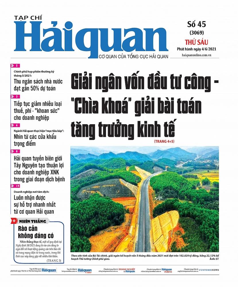 Những tin, bài hấp dẫn trên Tạp chí Hải quan số 45 phát hành ngày 4/6/2021