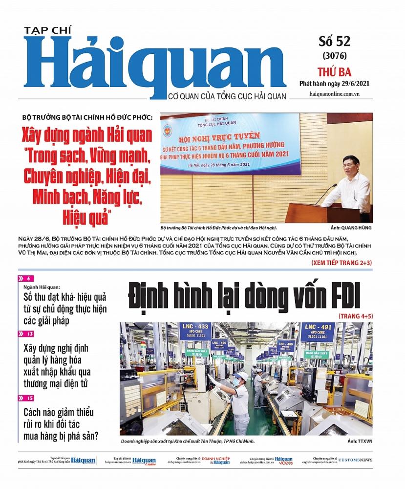 Những tin, bài hấp dẫn trên Tạp chí Hải quan số 52 phát hành ngày 29/6/2021