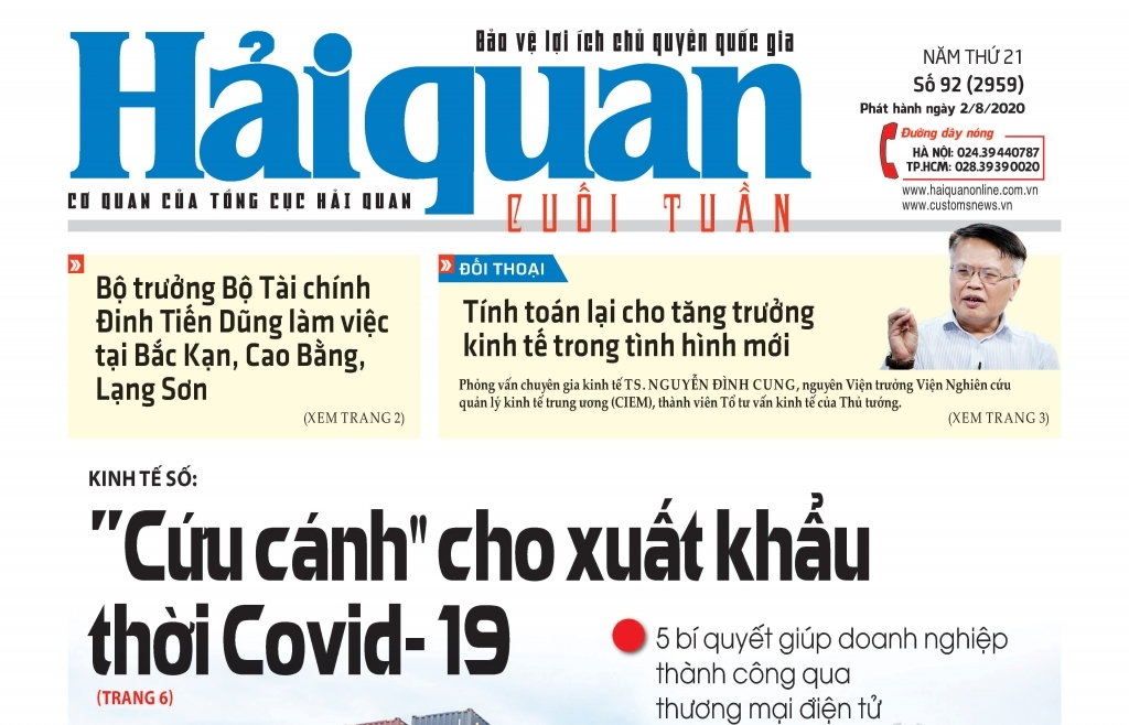 Những tin, bài hấp dẫn trên Báo Hải quan số 92 phát hành ngày 2/8/2020
