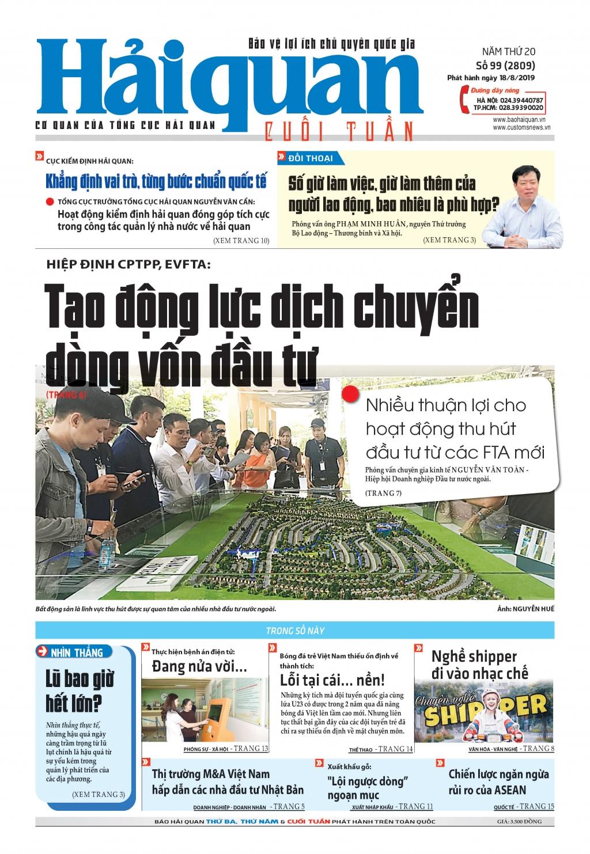 Những tin, bài hấp dẫn trên Báo Hải quan số 99 phát hành ngày 18/8/2019