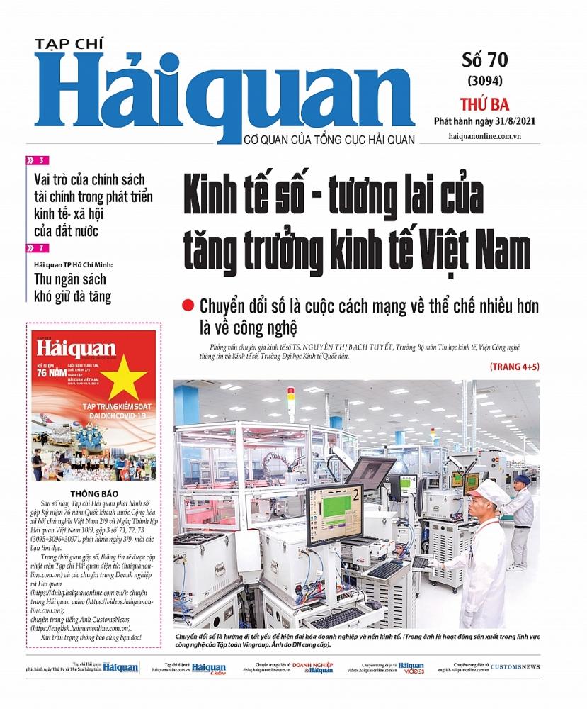 Những tin, bài hấp dẫn trên Tạp chí Hải quan số 70 phát hành ngày 31/8/2021