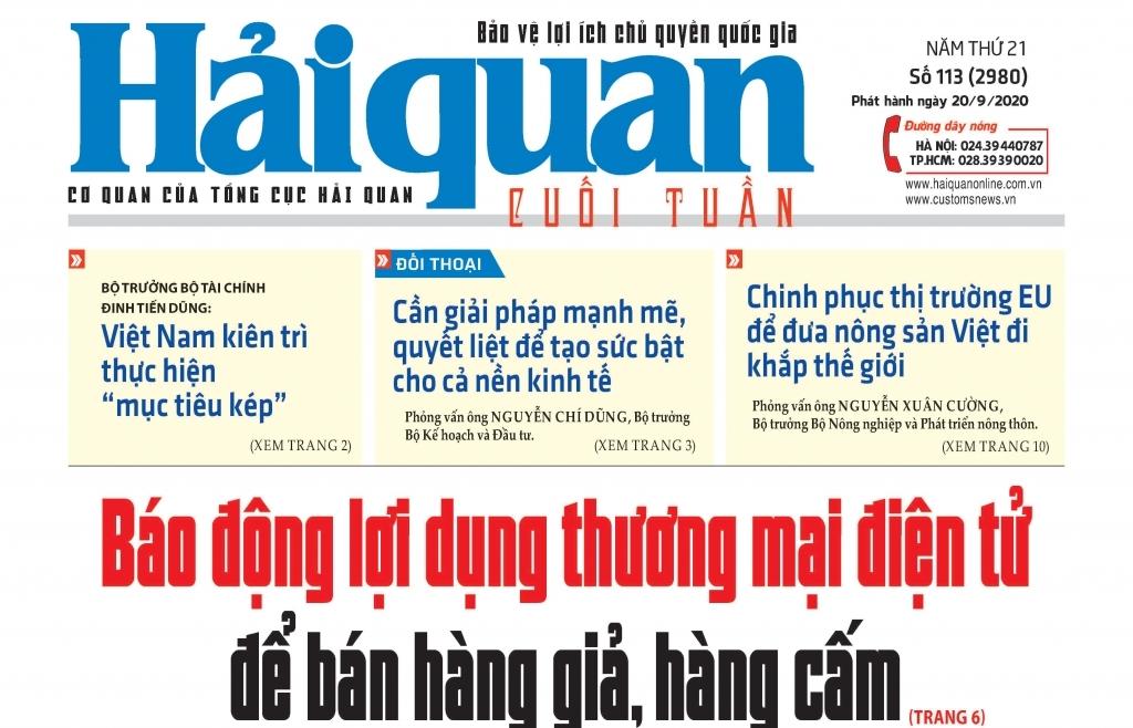 Những tin, bài hấp dẫn trên Báo Hải quan số 113 phát hành ngày 20/9/2020