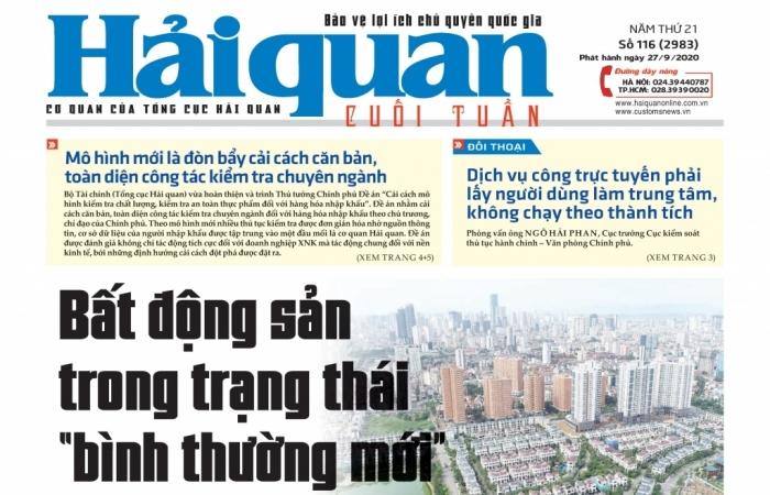 Những tin, bài hấp dẫn trên Báo Hải quan số 116 phát hành ngày 27/9/2020