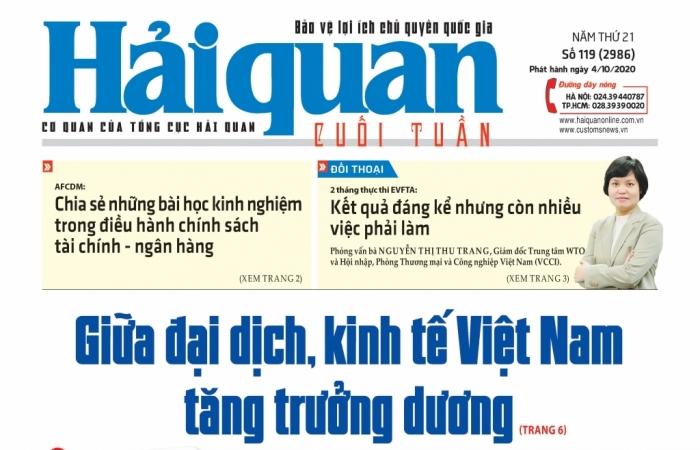 Những tin, bài hấp dẫn trên Báo Hải quan số 119 phát hành ngày 4/10/2020
