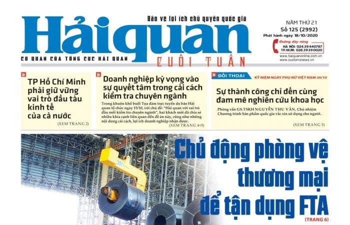 Những tin, bài hấp dẫn trên Báo Hải quan số 125 phát hành ngày 18/10/2020