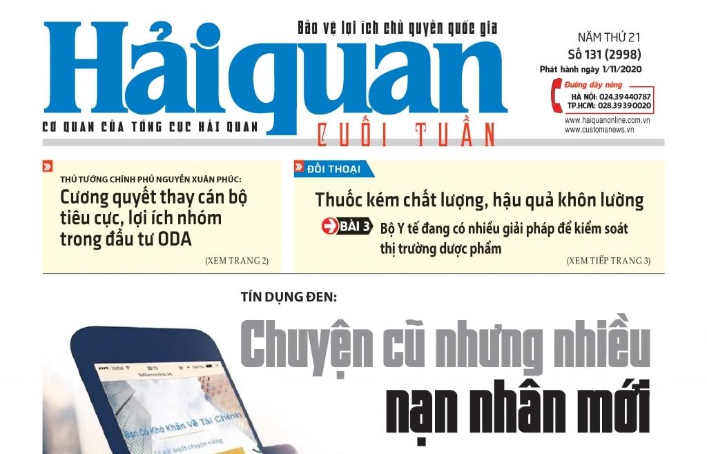 Những tin, bài hấp dẫn trên Báo Hải quan số 131 phát hành ngày 1/11/2020