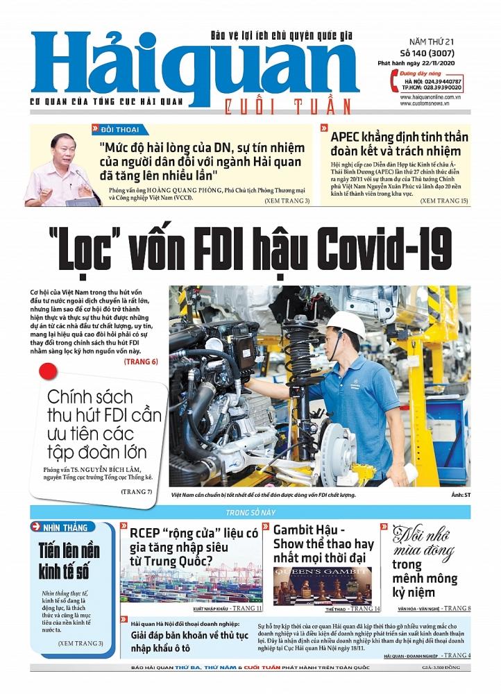 Những tin, bài hấp dẫn trên Báo Hải quan số 140 phát hành ngày 22/11/2020