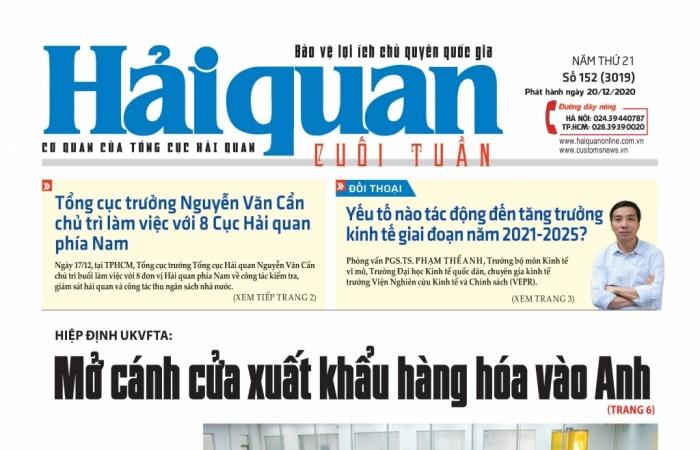 Những tin, bài hấp dẫn trên Báo Hải quan số 152 phát hành ngày 20/12/2020