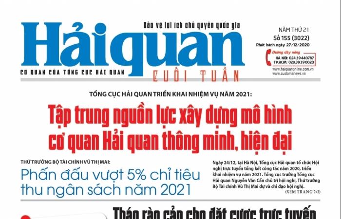 Những tin, bài hấp dẫn trên Báo Hải quan số 155 phát hành ngày 27/12/2020