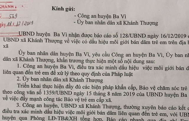 Điều tra đường dây môi giới mại dâm nữ sinh tại Ba Vì, Hà Nội