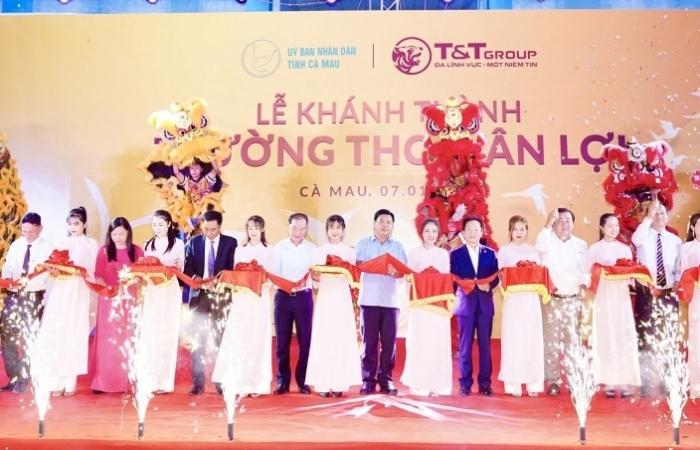 Tập đoàn T&T tài trợ xây dựng trường tại tỉnh Cà Mau