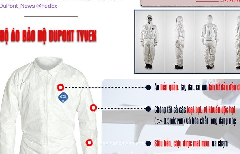 Infographics: 450.000 bộ đồ chống Covid-19 từ Việt Nam chuyển đến Mỹ có gì đặc biệt?