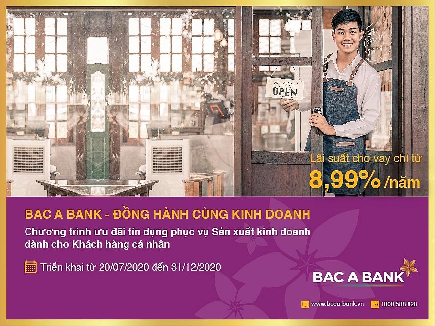 BAC A BANK đồng hành kinh doanh cùng khách hàng cá nhân