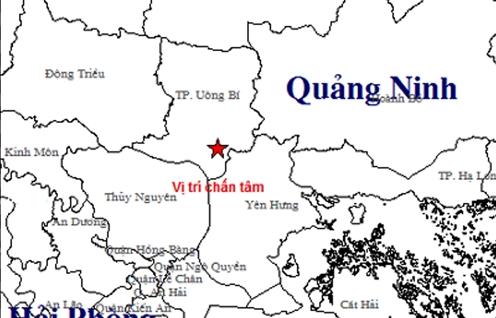 dong dat cuong do 32 lam rung chuyen nha dan o tinh quang ninh