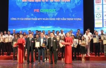 FE CREDIT lọt top 10 hàng Việt tốt vì quyền lợi người tiêu dùng