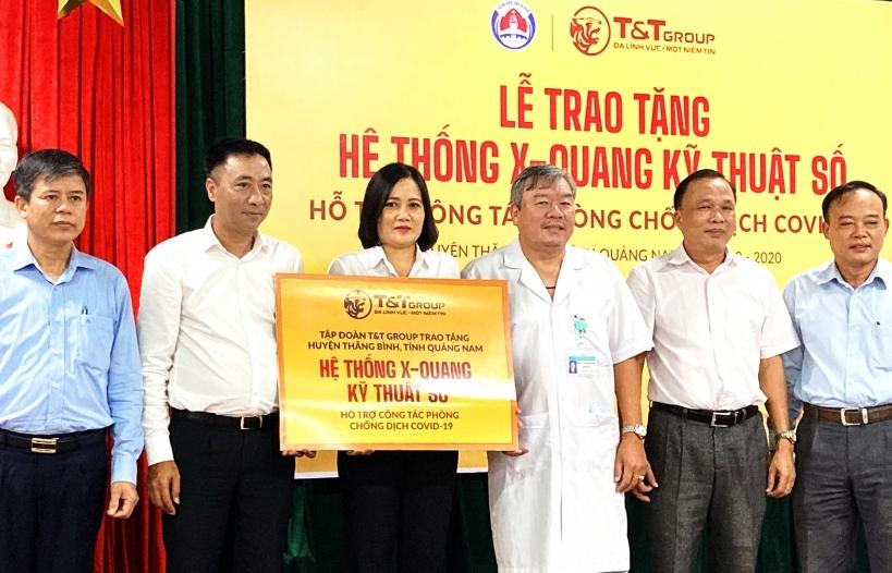 T&T Group tặng hệ thống X-Quang kỹ thuật số cho huyện Thăng Bình phòng chống Covid-19