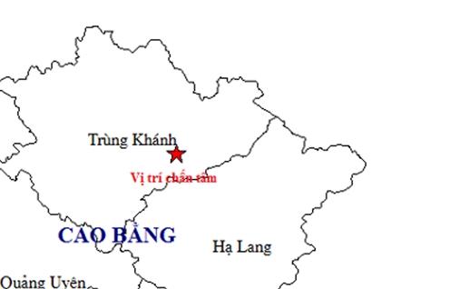 Tiếp tục xảy ra trận động đất tại Cao Bằng