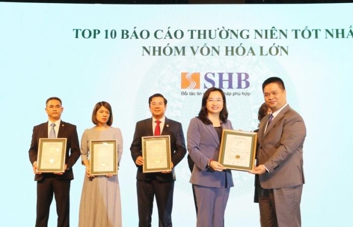 SHB vào top 10 doanh nghiệp vốn hóa lớn có báo cáo thường niên tốt nhất 2020