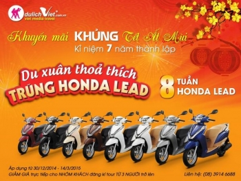 Du xuân thỏa thích – Trúng Honda Lead