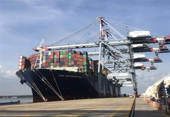 Cảng Quốc tế Cái Mép đón tàu container siêu lớn