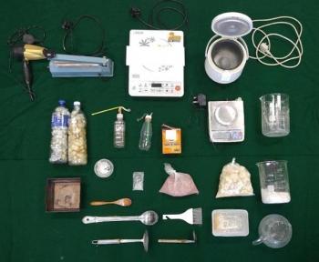 Triệt phá cơ sở sản xuất ma túy vụn
