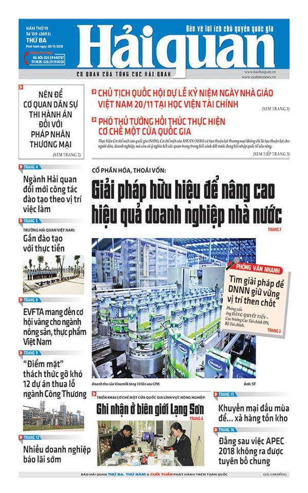 nhung tin bai hap dan tren bao hai quan so 139 phat hanh ngay 20112018
