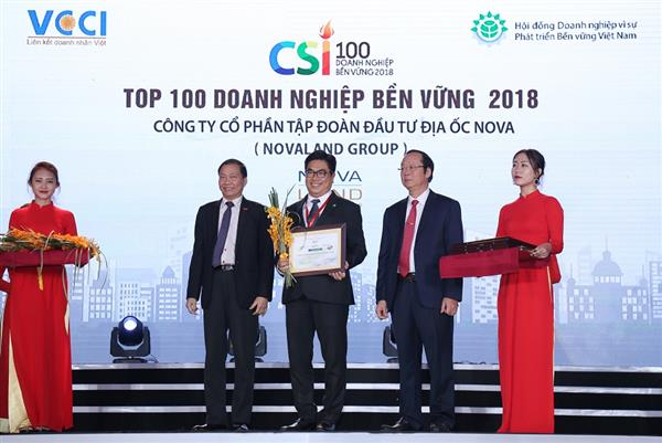 novaland lot top 100 doanh nghiep ben vung nam 2018