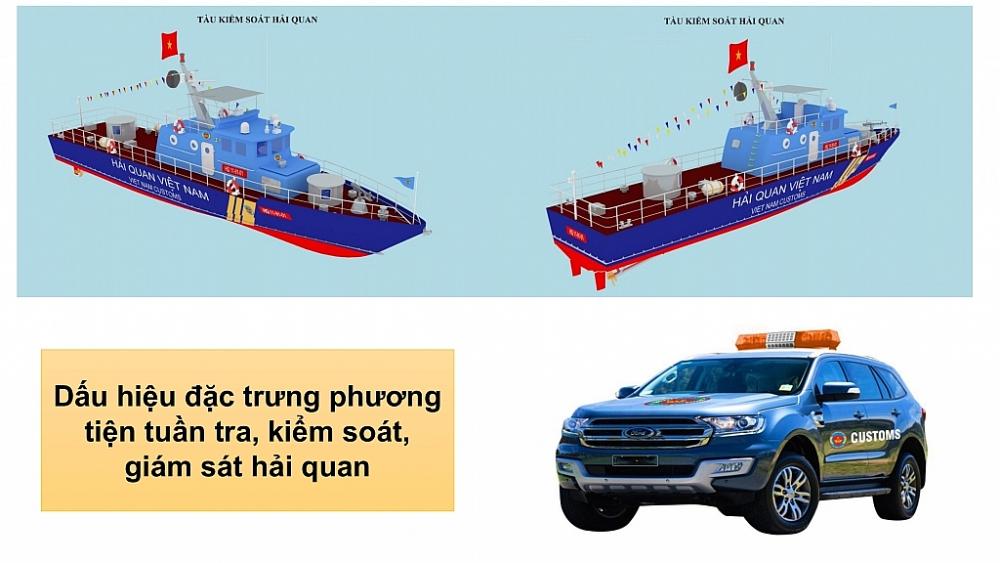 Infographics: Cờ hiệu, cấp hiệu, cờ truyền thống, biểu tượng hải quan... theo Nghị định mới