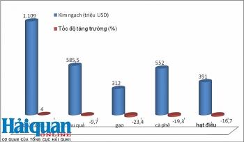 Nhiều nhóm nông sản tăng trưởng âm, đe dọa mục tiêu xuất khẩu 43 tỷ USD