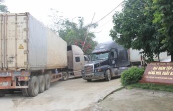 Tồn gần 1.200 xe hàng tại cửa khẩu giáp Trung Quốc, Lào, Campuchia