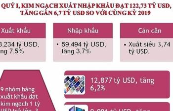 Infographics: Tổng quan hoạt động xuất nhập khẩu trong quý I/2020